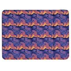 Pink blue waves pattern Samsung Galaxy Tab 7  P1000 Flip Case
