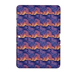 Pink Blue Waves Pattern Samsung Galaxy Tab 2 (10 1 ) P5100 Hardshell Case