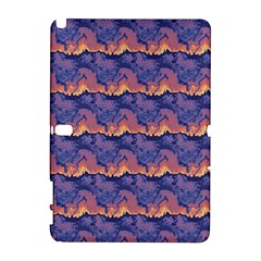 Pink blue waves pattern Samsung Galaxy Note 10.1 (P600) Hardshell Case