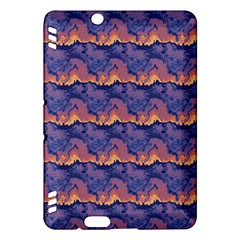 Pink blue waves pattern Kindle Fire HDX Hardshell Case