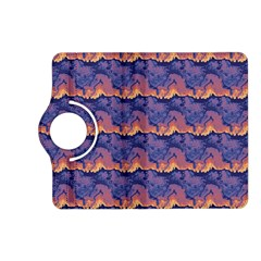 Pink Blue Waves Pattern Kindle Fire Hd (2013) Flip 360 Case