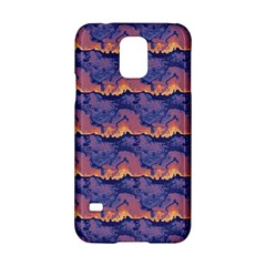 Pink blue waves pattern Samsung Galaxy S5 Hardshell Case