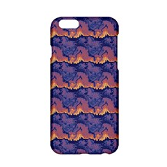Pink Blue Waves Pattern Apple Iphone 6 Hardshell Case