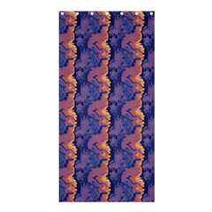 Pink blue waves pattern Shower Curtain 36  x 72  (Stall)