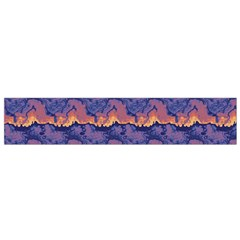 Pink blue waves pattern Flano Scarf (Small)
