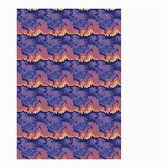 Pink blue waves pattern Small Garden Flag (Two Sides)