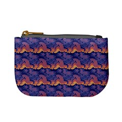 Pink Blue Waves Pattern Mini Coin Purse