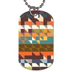 Shapes In Retro Colors Dog Tag (two Sides)