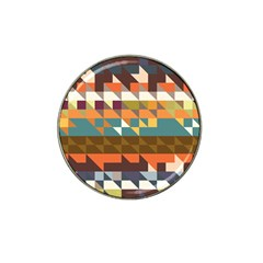 Shapes In Retro Colors Hat Clip Ball Marker (4 Pack)