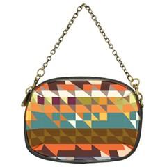 Shapes In Retro Colors Chain Purse (two Sides)