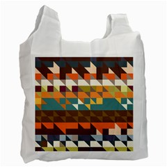 Shapes In Retro Colors Recycle Bag (two Side)