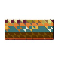 Shapes In Retro Colors Hand Towel