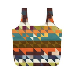 Shapes in retro colors Full Print Recycle Bag (M)