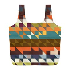 Shapes in retro colors Full Print Recycle Bag (L)