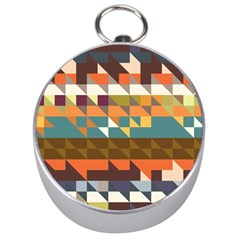 Shapes in retro colors Silver Compass
