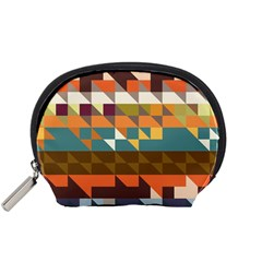 Shapes In Retro Colors Accessory Pouch (small)