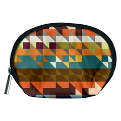 Shapes in retro colors Accessory Pouch (Medium)