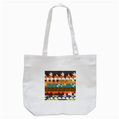 Shapes in retro colors Tote Bag (White)