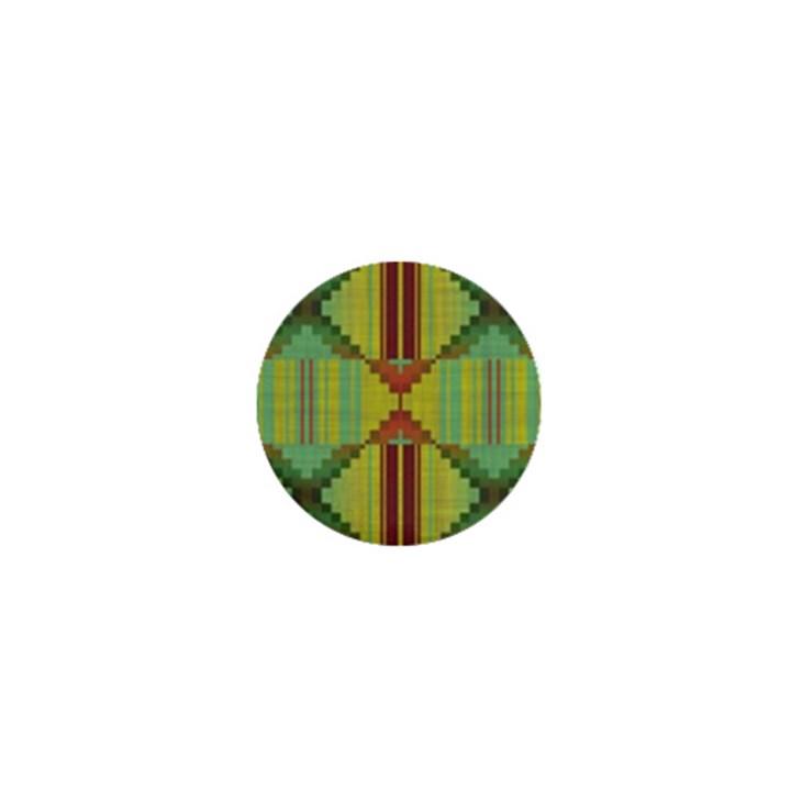 Tribal shapes 1  Mini Button