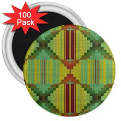 Tribal Shapes 3  Magnet (100 Pack)