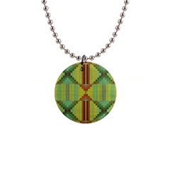 Tribal Shapes 1  Button Necklace
