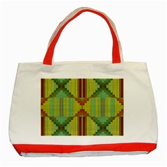 Tribal Shapes Classic Tote Bag (red)