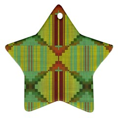 Tribal Shapes Star Ornament (two Sides)