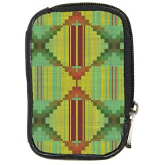 Tribal Shapes Compact Camera Leather Case