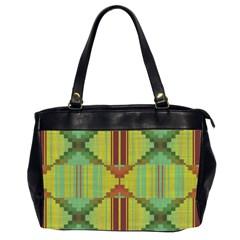 Tribal Shapes Oversize Office Handbag (two Sides)