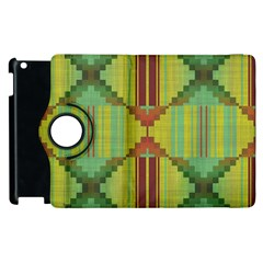 Tribal Shapes Apple Ipad 3/4 Flip 360 Case