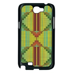 Tribal shapes Samsung Galaxy Note 2 Case (Black)