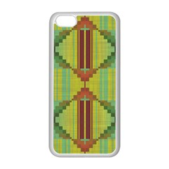 Tribal shapes Apple iPhone 5C Seamless Case (White)