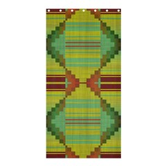 Tribal shapes Shower Curtain 36  x 72  (Stall)