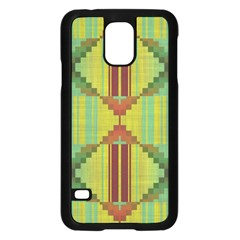 Tribal shapes Samsung Galaxy S5 Case (Black)