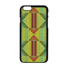 Tribal shapes Apple iPhone 6 Black Enamel Case