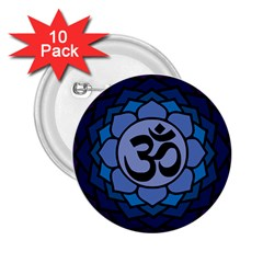 Ohm Lotus 01 2 25  Button (10 Pack)