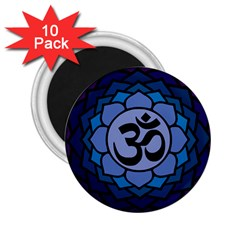 Ohm Lotus 01 2 25  Button Magnet (10 Pack)