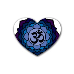 Ohm Lotus 01 Drink Coasters (heart)