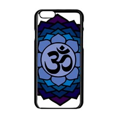 Ohm Lotus 01 Apple Iphone 6 Black Enamel Case