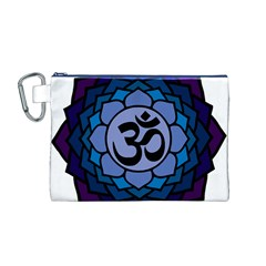 Ohm Lotus 01 Canvas Cosmetic Bag (Medium)
