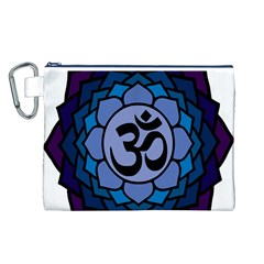 Ohm Lotus 01 Canvas Cosmetic Bag (Large)