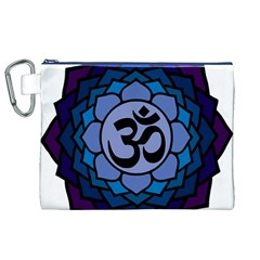 Ohm Lotus 01 Canvas Cosmetic Bag (XL)