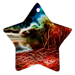 Abstract on the Wisconsin River Star Ornament