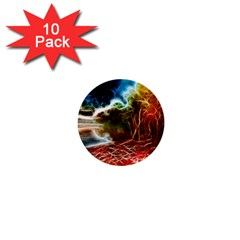 Abstract On The Wisconsin River 1  Mini Button (10 Pack)