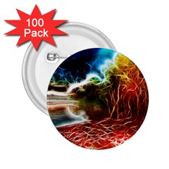 Abstract On The Wisconsin River 2 25  Button (100 Pack)