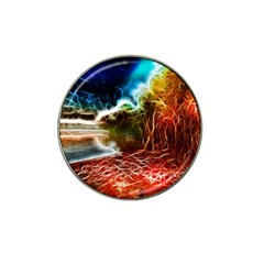 Abstract On The Wisconsin River Golf Ball Marker 10 Pack (for Hat Clip)