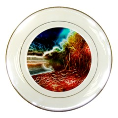 Abstract On The Wisconsin River Porcelain Display Plate