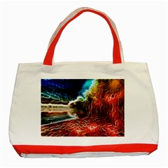 Abstract on the Wisconsin River Classic Tote Bag (Red)