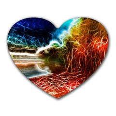 Abstract On The Wisconsin River Mouse Pad (heart)