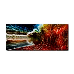 Abstract On The Wisconsin River Hand Towel